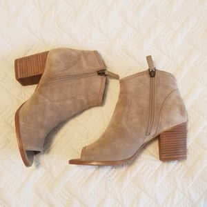 Crown Vintage Peep Toe Booties